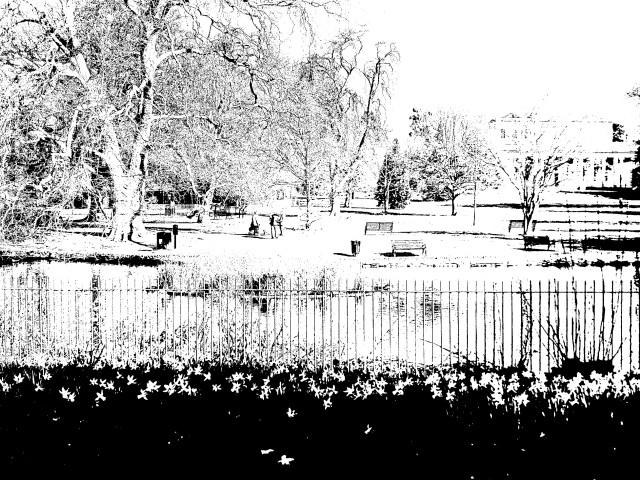 Pittville Park, Cheltenham, line art