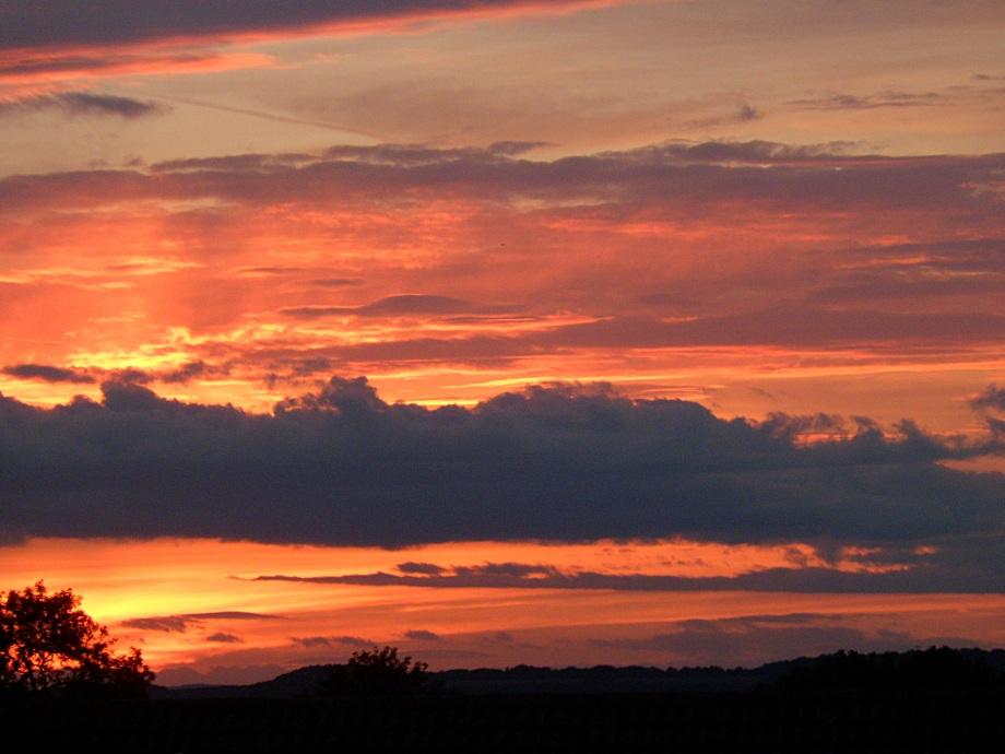 Westen sky, late August